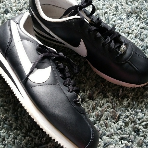 on sale 547b5 eaebf ... czech mens size 11 black and white nike cortez sneakers ed6c7 cb2c8